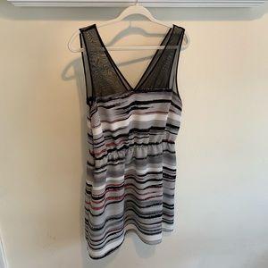 Petticoat Alley Dress Pink Black White Stripe L